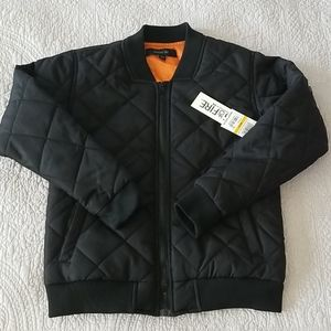 NWT Ring of Fire youth bomber jacket, black, sz M